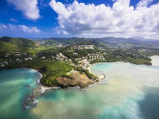 Karibik, St. Lucia, Choc Bay, Luftbild vom Calabash Cove Resort