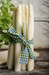 Bund weißer Spargel, Asparagus officinalis