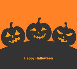 Jack o' lantern halloween pumpkins