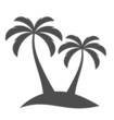 Palm trees on island - 70846935