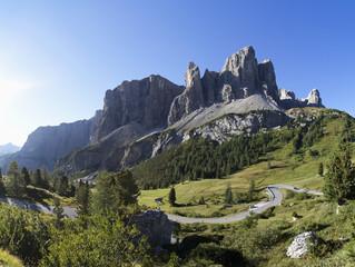 Italien, Südtirol, Grödner Joch und Sella-Gruppe