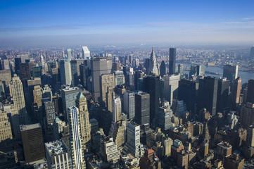 USA, New York, Manhattan, Blick auf die Skyline von oben