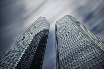 Deutschland, Hessen, Frankfurt am Main, Hochhäuser der Deutschen Bank
