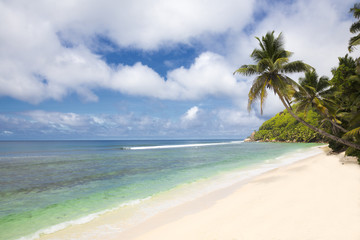 Seychellen, Mahé, Blick auf Strand
