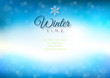Winter time background with text - illustration.
