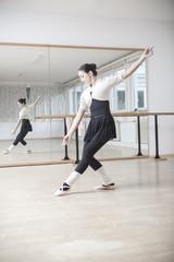 Ballett-Tänzerin bei einer Probe