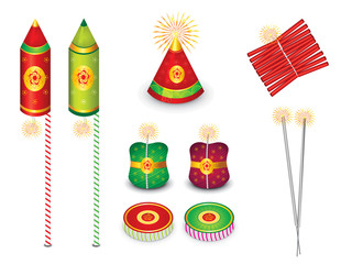 abstract multiple crackers background