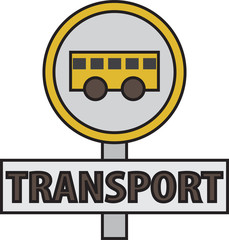 vector quote sign bus transport