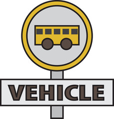 vector quote sign bus vehicle