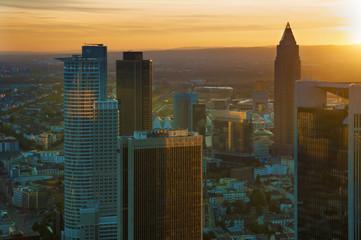 Deutschland, Hessen, Frankfurt am Main, Blick auf das Finanzviertel