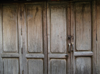 Rustic timber door