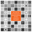 Monochrome retro seamless patterns