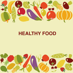 healthy food background - Illustration