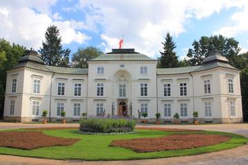 The Palace Myslewicki in Lazienki Park in Warsaw