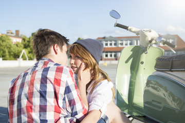 Teenager-Paar verliebt