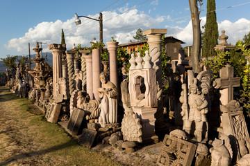 bulk stone carvings in Tzintzuntzan