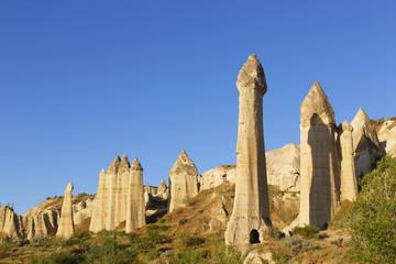 Türkei, Kappadokien, Stellen Vadisi, Phalloid Feenkamine im Göreme-Nationalpark