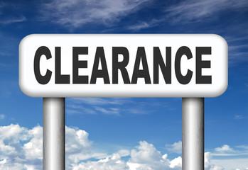 final stock clearance sale