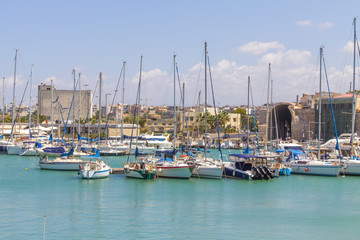 Harbor in Heraklion, Crete