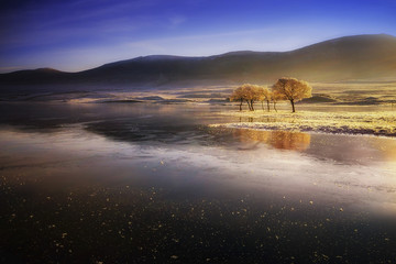 Großbritannien, Schottland, Sutherland, Oykel, Altnaharra, Loch Naver, im Winter
