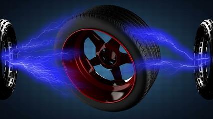 loop rotate car wheel