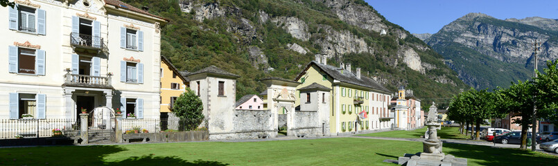 The old village of Cevio on Maggia valley