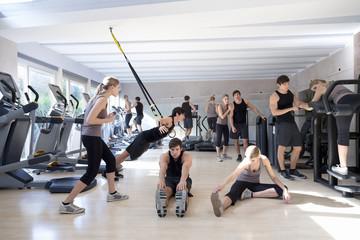 Österreich, Klagenfurt, Paar im Gym