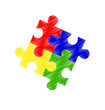 Autism spectrum puzzle pieces - 70852945