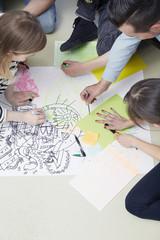 Kreative Zeichnung auf Papier