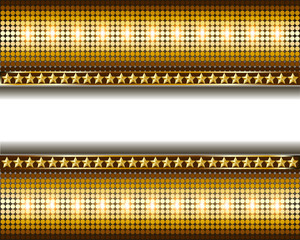 background with gold circles and stars