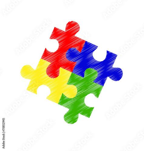 Autism spectrum puzzle pieces - 70852945