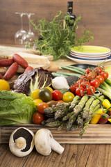 Frisches mediterranes Gemüse