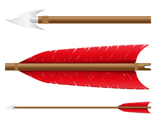 arrow for bow vector illustration
