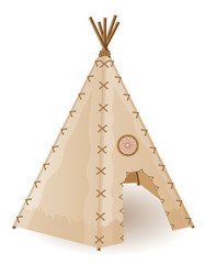 wigwam indians vector illustration
