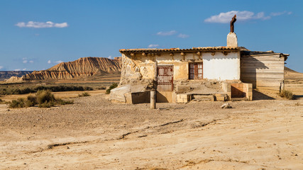 Old hut in Bardenas Reales