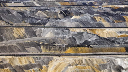 Deutschland, Nordrhein-Westfalen, Tagebau, Abraum