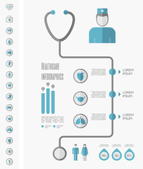 Medical Infographic Template.