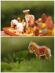 collage with gingerbread - horse and sheep