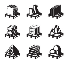 Various construction and building materials