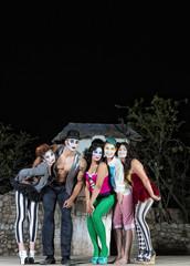 Clown Ensemble on Stage