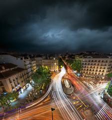 Madrid at dusk