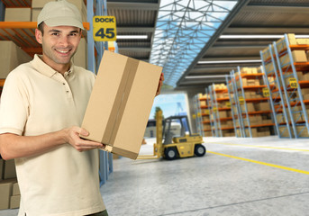 Worker on Distribution warehouse