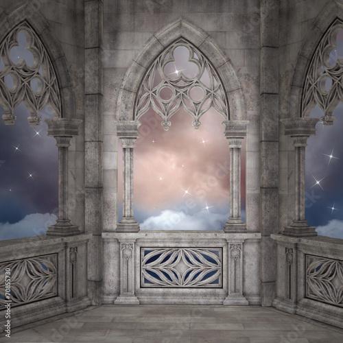Plexiglas Oude gebouw Elven palace background