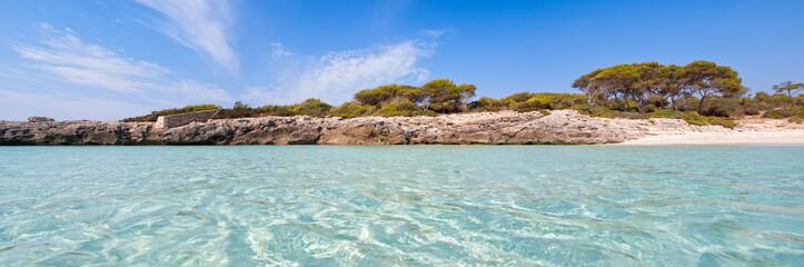 Panoramic view of cala Talaier in Menorca