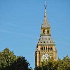 Spitze des Big Ben in London