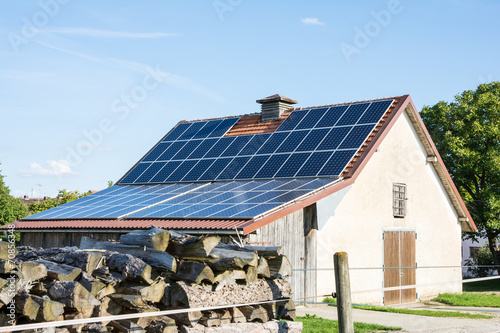 Agricultural Building with Solar Panels