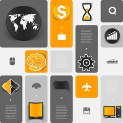 business geometric infographic