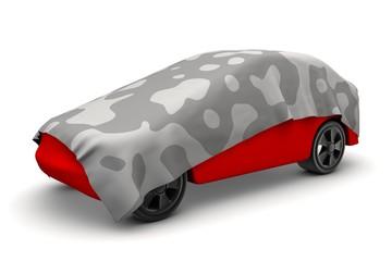 abgedeckter Prototyp eines Autos