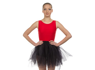 Photo of young ballerina
