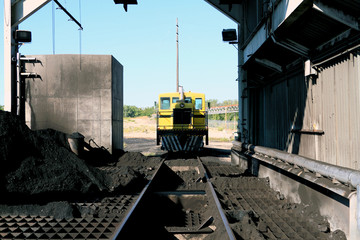 Railway Machinery at a Coal Fired Power Plant